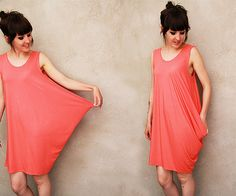 Perfect dress for summer.  Love the colour too!