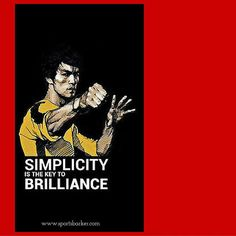 """""Simplicity is the key to brilliance"" #sportsbarker#sports #sportsday…"
