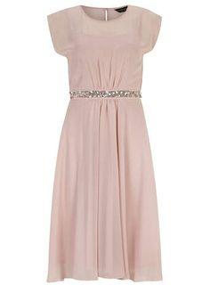 Blush embellished waist dress - Dresses - Clothing Bridesmaids dresses