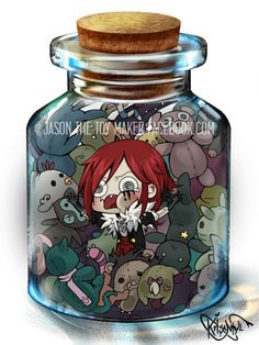 Jason the Toy Maker in a bottle by Krisantyl on DeviantArt