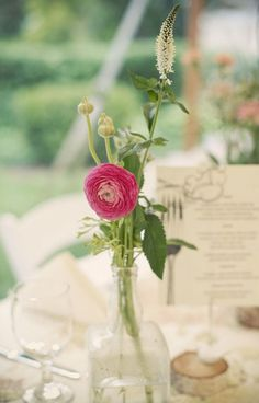 Simple, yet elegant one flower arrangements can make any space unique.