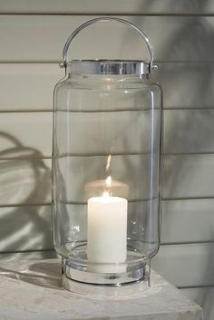 Fancy a Candle lit feeling? achieve it with the Blown Glass Lantern