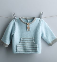 This Pin was discovered by Lau - tricot Knitting Patterns Boys, Baby Sweater Patterns, Baby Boy Knitting, Knit Baby Sweaters, Knitting For Kids, Baby Patterns, Crochet Patterns, Baby Vest, Baby Cardigan