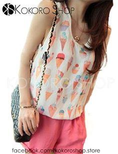 CAMISETAS CHIFFON CUTE (Modelo IceCream) - REF: ICECREAM_CM/003000      Síguenos en Instagram: @KokoroShopStore  Para pedidos o consultas, contactar mediante Facebook:  https://www.facebook.com/kokoroshop.store/     Muchas Gracias  #moda #modamujer #outfit #woman #girls #verano #summer #summertime #cute #lovely #shopping #tiendas #compras #chicas #outfit #orange #crochet #sexy #chiffon #gasa #fashionista #helados #camisetas #modamujer #tanktops #icecream #moda #shopping #fashionista #tiendas