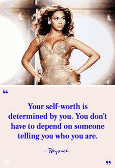 """""""your self-worth is determined by you. you don't have to depend on someone telling you who you are. Instagram Captions For Selfies, Selfie Captions, Mantra, Life Quotes Love, Woman Quotes, Quotes Women, Quote Life, Happy Quotes, True Quotes"""