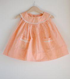 Vintage toddler dress, 1950's.