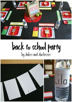 back to school party with lots of DIY details