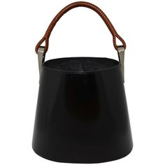 Kenzo Sac Pagodon Bucket Bag C.1998 | From a collection of rare vintage top handle bags at https://www.1stdibs.com/fashion/handbags-purses-bags/top-handle-bags/