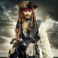 Captian Jack Sparrow, Jack Sparrow Tattoos, John Depp, Sparrow Art, Sparrow Drawing, The Hollywood Vampires, On Stranger Tides, Johnny Depp Movies, Mermaid Disney