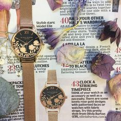 The Lace Detail Black Dial & Rose Gold Mesh featuring in the Daily Mail