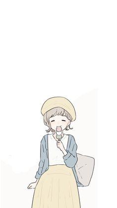 Wallpaper Kawaii, Cartoon Wallpaper, Kawaii Doodles, Kawaii Art, Cartoon Sketches, Cartoon Art, Anime Art Girl, Manga Art, Poses References