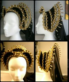 Amazing Elizabethan hood on Etsy by CadwaladrCostumes