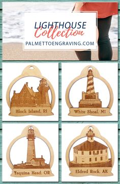 An exquisite collection of Lighthouse ornaments!