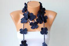 crochet+lariat+flower+lariat+scarf+crochet+lariat++by+SenasShop,+$18.00