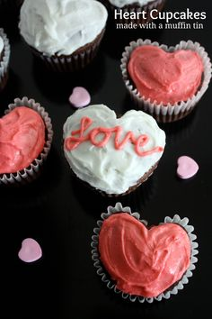 Heart Cupcakes  on MyRecipeMagic.com