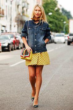 Milan Fashion Week Street Style, Sping 2014.