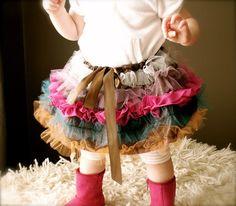 Little Girl's Hip Funk Ruffled Tulle Skirt