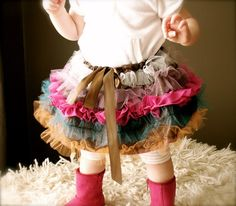 totally darling!!Little Girl's Hip Funk Ruffled Tulle Skirt