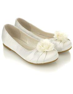 Corsage Ballerina | White | Monsoon $35  (US size 2.5 - 13.5)