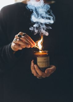 Oud Soy Wax Candle- There is something in the mystique and magic of candle smoke . Oud Soy Wax Candle- There is something in the mysticism and magic of candle smoke…. Candle Wax, Soy Wax Candles, Scented Candles, Candle Shop, Amber Glass Jars, Photo Candles, Candle Pics, Witch Aesthetic, Cosy Aesthetic
