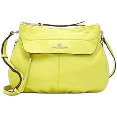 Vince Camuto Dean Crossbody ($198) ❤ liked on Polyvore featuring bags, handbags, shoulder bags, golden apple, yellow leather purse, crossbody shoulder bags, yellow crossbody, leather shoulder handbags and leather purse