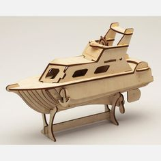 Whether you're an armchair engineer or simply looking for mind/hand stimulation that doesn't involve a video game console, Cary Chleborad's meticulous laser-cut wood puzzles are the perfect way to spend a rainy Saturday afternoon. The pieces in this kit assemble into a detailed model of a yacht. Once it's built, you can display your creation on a shelf to show off your mechanical prowess.