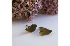 petite vine leaf earrings by Tessa J Kelly