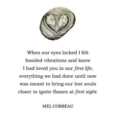 """""""Fossilized Souls"""" cross paths ever so often and it is the spark that brings their memories back.  #Poem #Poet #Poetry #PoetSociety #PoetryCommunity #Life #Art #Love #Author #AmWriting #Writer #Writers #PoetsOfIg #WritersOfIg #IgPoetry #InstaMood #InstaGood #qotd #Quote #QuoteofTheDay #motivation #Eden #MelCorbeau"""