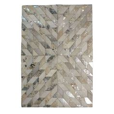 Fabricated from leather and designed with a patchwork natural colourway, this rug is fashioned with a modern design and is available in a choice of sizes. Patchwork Rugs, Large Rugs, New Living Room, Modern Rugs, Soft Furnishings, Blinds, Modern Design, Carpet, Metallic