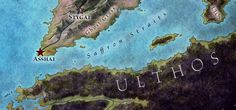 Asshai map for Game of Thrones