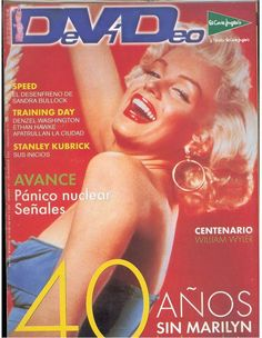 Actuales DVD Video - magazine from France. Front cover photo of Marilyn Monroe by Bert Reisfeld, 1953.