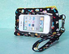 Touch Screen Wristlet iphone case smart phone wallet wristlet by PrettyCoolShops, $36.00