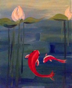 """Koi"" - #paintnite #red #koi"