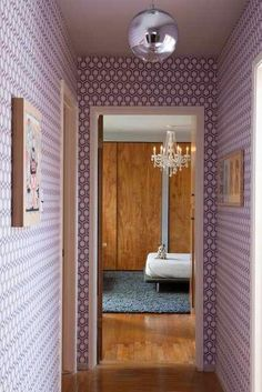 Janel Holiday's home on apartment therapy bold wallpaper  http://designindulgences.com/2013/06/26/interior-designers-home-tour-on-apartment-therapy/
