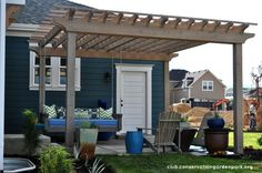 Hanging Daybed Swing on Pergola- DIY Tutorial, Part 2