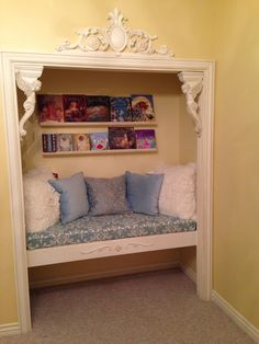 Closet Reading Nook Ideas 25 For those who like to read bo Closet Reading Nook Ideas 25 For those who like to read bo Adele Estes decoration-ideas Closet Reading Nook Ideas nbsp hellip Reading Nook Closet, Closet Nook, Bed Nook, Bed In Closet, Cozy Nook, Closet Bedroom, Girls Bedroom, Bedroom Decor, Closet Library