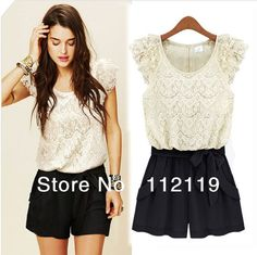 Dresses new 2014 fashion white/black Splice lace Women novelty  Plus Size casual vintage Summer print dress  (free belt) 3724