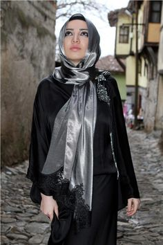 Grey and Silver Hijab Trends