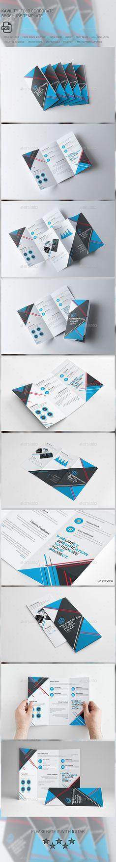 Kavil Corporate Tri-fold Brochure Template PSD