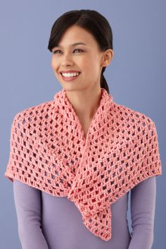Modern Lace Shawl - What a great project to learn a new stitch...Treble Crochet!