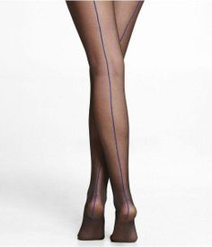 nothing sexier than a classic seamed pair of tights.  these have a blue seam!  Cute!  $5