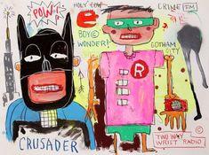 (Batman and Robin), Jean-Michel Basquiat, circa Courtesy of the Estate of Jean-Michel Basquiat, New York © The Estate of Jean-Michel Basquiat. Artist Jean-Michel Basquiat's Artwork Reveals Powerful Superhero Influences Jean Michel Basquiat Art, Jm Basquiat, Basquiat Artist, Pop Art, Keith Haring, Andy Warhol, Robert Rauschenberg, Pablo Picasso, Basquiat Paintings