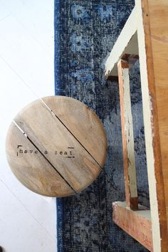 Just because I love the colours and textures here: white, indigo, black and distressed wood. #DeborahBeau