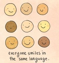 everyone smiles in the same language » hair flow » art » drawing » inspiration » illustration » artsy » sketch » pinterest » design » expression » faces »