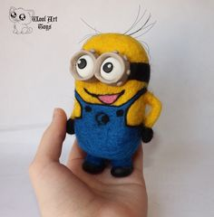 Needle felted Minion. Despicable Me. by WoolArtToys
