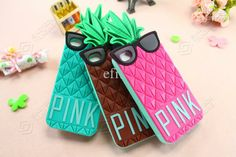 Pineapple PINK iPhone cases