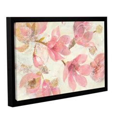 """Lark Manor Magnolias in Bloom By Albena Hristova Framed Painting Print on Wrapped Canvas Size: 12"""" H x 18"""" W x 2"""" D"""