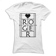 Roger Tennis Fans Black On White - design your own t-shirt #Tshirt #clothing
