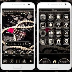"""""""Rouge and Lace"""" 10/2 This stylish theme is perfect for the fashionable among us. Bring it to your smartphone today! http://app.android.atm-plushome.com/app.php/app/themeDetail?material_id=1345&rf=twitter #cute #wallpaper #love #kawaii #design #icon #girl #follow #fashion #code #style #beautiful #plushome  #homescreen #widget #deco"""