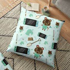 Pillow Design, Floor Pillows, Animal Crossing, Nintendo Switch, Flooring, Printed, Awesome, Interior, Animals
